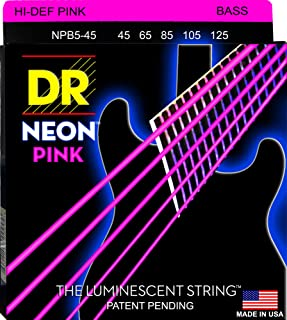 DR Strings NPB5-45 镀镍 低音吉他弦,中号