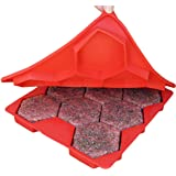 Shape+Store 汉堡大师8合1创新汉堡压,8条装,红色