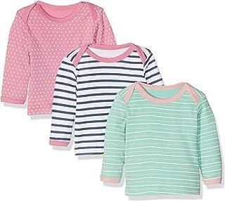 Care 婴儿女童 birte 长袖上衣,3件装,