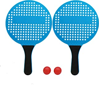 LESTAY Beach Tennis Rackets Set for Kids Paddle Ball Game Set, 2 Includes 2 Rackets and 2 Paddleballs, Beach Sport Toy for...