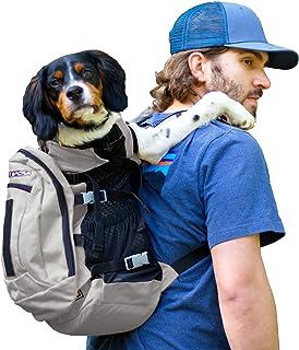 K9 Sport Sack AIR Plus | 小中型宠物狗背包|前置可调节包带储物袋 | 全通风 | *认证 浅灰色 中