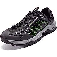 徒步鞋 水透气鞋 男士 – 户外鞋 网眼夏季高抓地力 适用于海滩皮划艇游泳甲板船