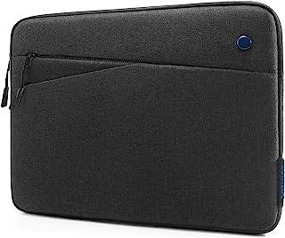 tomtoc 平板电脑内胆包适用于 12.9 英寸 iPad Pro 2021-2018 ,带魔术键盘和智能键盘对开或 Logitech Slim Folio Pro 保护套,前置口袋适用于平板电脑配件