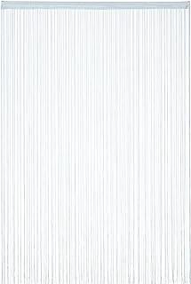 Relaxdays 纱帘,145 x 245 厘米,带拉绳,可缩短,适用于门和窗户,纱线,可洗,银色