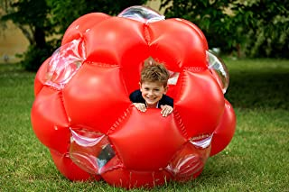 LEXIBOOK 充气大球,*耐用塑料,透明,蓝色/绿色,BG100