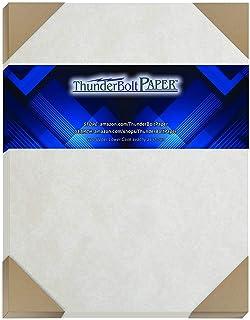 50 灰色羊皮纸 65 磅 封面重量纸 20.32 厘米 X 25.4 厘米(20.32 厘米 X 25.4 厘米)照片|相框尺寸 - 可打印旧羊皮纸