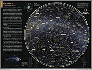 国家地理: 北方天空: 图表天堂 - 海报 - 71.12 x 55.88 厘米 - 层压