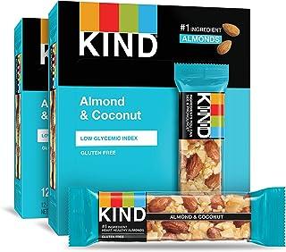 KIND 零食棒,杏仁和椰子,无麸质,1.4盎司,40克,24块