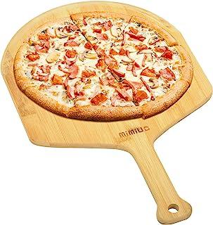 Mimiuo 天然竹皮披萨即剥轻量易处理披萨抹刀,适用于烘焙自制披萨、面包和切割水果