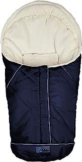 Altabebe AL2003-31 北欧冬季婴儿汽车座椅脚套,0-12 个月,深蓝色/白色