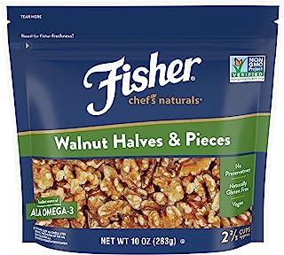 Fisher Chef's Naturals 核桃仁 半边 不含防腐剂 10盎司约283克