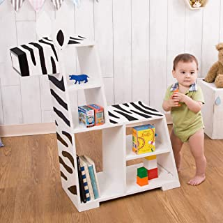 Teamson 儿童 TDF-0004 儿童书柜,白色/黑色,86.36 x 86.68 x 106.68 厘米
