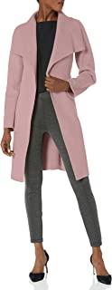T Tahari 女式双面羊毛披肩外套,配可选择自带腰带