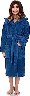 TowelSelections 女孩长袍,儿童毛绒连帽羊毛浴袍,土耳其制造