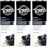Tom's of Maine 活性炭牙膏,无氟,薄荷,4.7盎司,133克,3件装