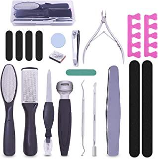 专业修脚工具*锉刀套装 20 合 1,*锉刀,去死皮,*护理工具,男士女士,母亲节礼物,*水疗,家庭沙龙