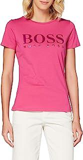 BOSS 女士 Temellow T 恤 纯棉材质 带品牌标志印花 光泽外观
