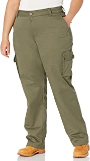 Dickies 女式加大码宽松弹力工装直筒裤