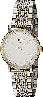 Tissot 女式石英不锈钢手表,颜色:双色调(型号:T1092102203100)