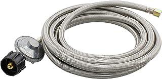 BISupply 低压调节器软管,15 英尺(约 4.6 米)钢 - 低压丙烷调节器软管,适用于 LP 气体低 PSI 调节器软管