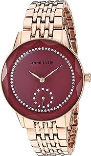 Anne Klein 女式施华洛世奇水晶点缀玫瑰金手链手表,AK/3506MVRG