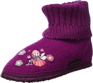 GIESSWEIN Könitz 儿童家居鞋 - 女孩小屋鞋 | 高帮羊毛材质 | 儿童毛毡拖鞋 | 温暖透气 | 防滑鞋底