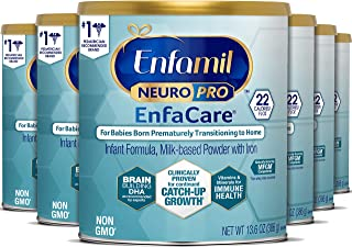 meadjohnson 美赞臣 Enfamil NeuroPro EnfaCare 铂睿 早产婴儿奶粉,罐装,12.8盎司,363克(6罐),含有铁,MFGM,Omega 3 DHA,益生元,有益于机体支持生长(5月包装)