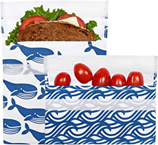 Lunchskins Reusable Sandwich & Snack Bag Set 蓝色 蓝色