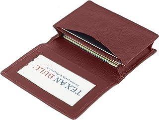 德克萨斯州公牛信用卡包 RFID 信号屏蔽 中性款修身双折名片收纳钱包