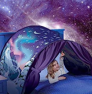 Kids Dream Bed Tent 单人床 - 豪华太空冒险 & 恐龙岛 & 独角兽 & 冬季仙境游戏帐篷男孩女孩弹出帐篷儿童游戏帐篷魔法游戏屋圣诞生日礼物