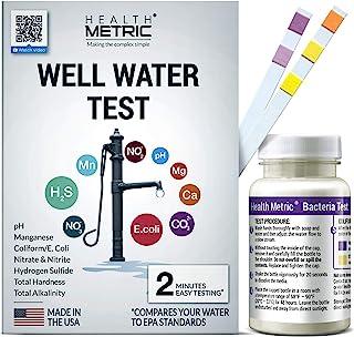 饮用水测试套件 - 快速便捷家用水测试套件,针对*、硝酸、硝酸盐 pH Manganese & More | 美国制造,带 EPA 限制[无需保养]