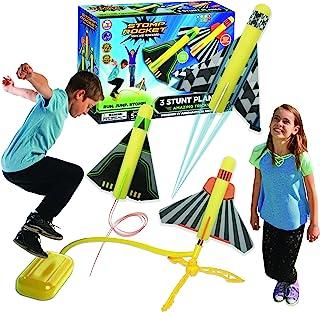 原版 Stomp Rocket 特技飞机发射器 - 3 个泡沫飞机和玩具空火箭发射器 - 适合男孩和女孩的户外火箭 STEM 礼物 - 适合 5 岁(6、7、8 岁)及以上 - 非常适合户外玩耍