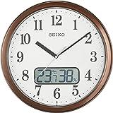 Seiko 精工 挂钟 04:茶金属 02:直径31cm 电波 模拟 温度&湿度显示 KX244B
