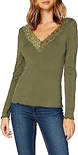 ONLY 女式 Onllara L/S V 领蕾丝上衣 JRS 衬衫