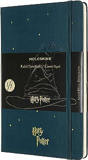 "Moleskine 限量版哈利·波特笔记本,硬封皮,大号,5"" x 8.25""(约12.7厘米 x 20.96厘米),直纹纸/ 衬里纸,潮绿色,240页"