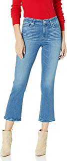 PAIGE 女式 Colette Transcend 高腰喇叭裤腿露脐牛仔裤