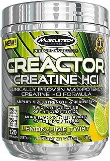 MuscleTech 麦斯泰克 Creactor,Max Potency肌酸粉,微粉化肌酸和肌酸HCl,柠檬青柠混合味,120份(238克)