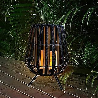 户外太阳能蜡烛灯,太阳能复古花园装饰灯,防水 LED 无焰灯,适用于书桌露台,庭院花园