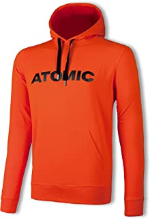 Atomic 男式套头衫,丝网印刷标志,阿尔卑斯山连帽衫,棉,尺寸 M,浅红/黑色,AP5036110