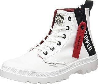 Palladium 中性成人 Pampa Unzip 短靴,白色