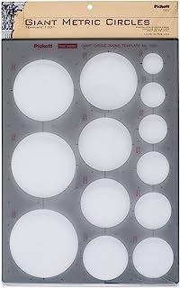 Pickett 巨型公制圆盘模板,圆圈范围 25 毫米至 85 毫米 (1301I)