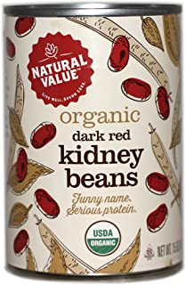 Natural Value Organic Dark Red Kidney Beans, 15 Ounce (Pack of 12)
