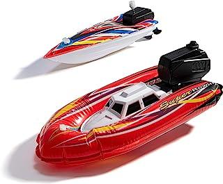 玩具船,幼儿婴儿沐浴玩具,儿童泳池玩具,2 个浴缸及泳池的船玩具,水上游戏玩具船,1 个电池供电,1 个发条快艇玩具