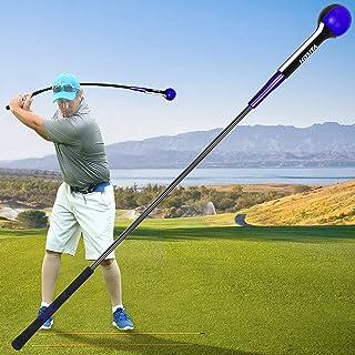 Hosita 高尔夫挥杆训练器 – 全挥杆热身训练辅助器具 适用于节奏、计时、平衡和节奏 – 随附 PGA 教师的免费对齐棒和 训练视频
