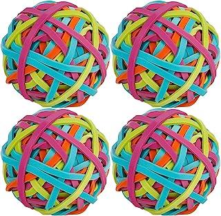 SUSSURRO 4 卷弹性橡胶带球,多色弹性橡皮筋带环,适用于 DIY 艺术工艺品文件办公室用品整理