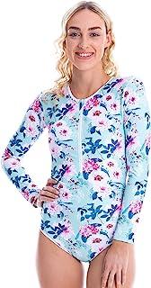 Tame the Sun 女士长袖泳衣,*指数 UPF 50+,褶皱全内衬泳衣