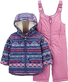 OshKosh B'Gosh 女童滑雪夹克和滑雪服套装