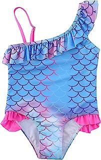 Sweegentle 女婴泳装连体 UPF 50+ *泳衣,适合 2-12 岁