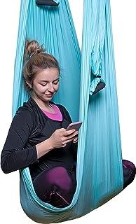 F.Life 空中瑜伽梯形吊床套装 - 抗重力瑜伽、反转锻炼、提高灵活性和核心强度