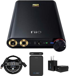FiiO Q1 Mark II 便携式耳机放大器和 DAC 适用于 iPhone、iPod、iPad、随身听,电脑包带 Blucoil USB 壁式适配器和 3 英尺(约 3 米)USB 2.0 Type-A 延长线